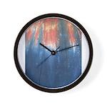 Blue/Orange Tie-Dye Wall Clock
