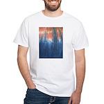 Blue/Orange Tie-Dye White T-Shirt