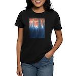 Blue/Orange Tie-Dye Women's Dark T-Shirt