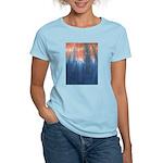 Blue/Orange Tie-Dye Women's Light T-Shirt