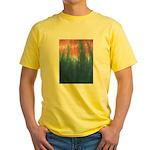 Blue/Orange Tie-Dye Yellow T-Shirt