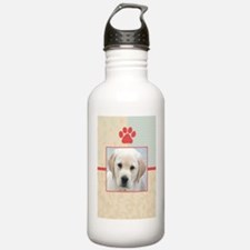 nook_lab_yellowpup Water Bottle