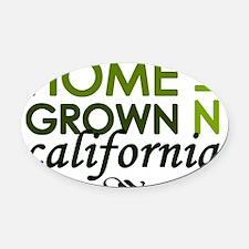 Home grown california Oval Car Magnet
