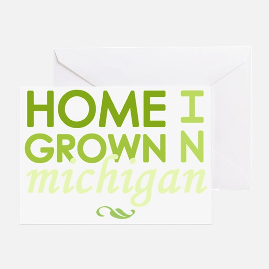 Home grown michigan light Greeting Card