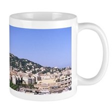 Riviera Harbor from Mountain in Cannes  Mug