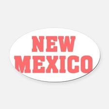Girl out of new mexico light Oval Car Magnet