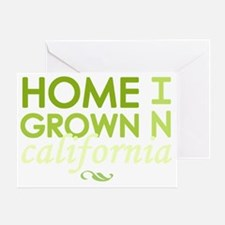 Home grown california light Greeting Card