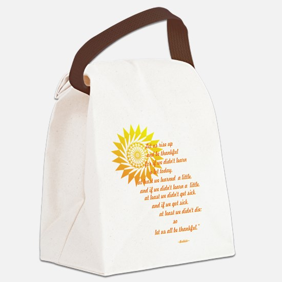 be thankful 12x12 Canvas Lunch Bag