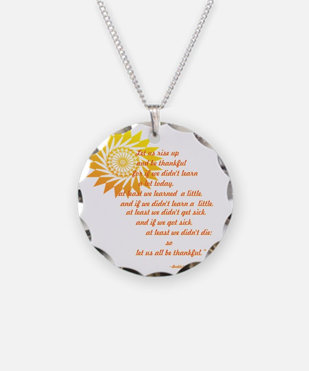 be thankful 12x12 Necklace