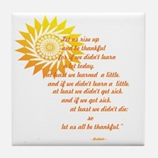 be thankful 12x12 Tile Coaster