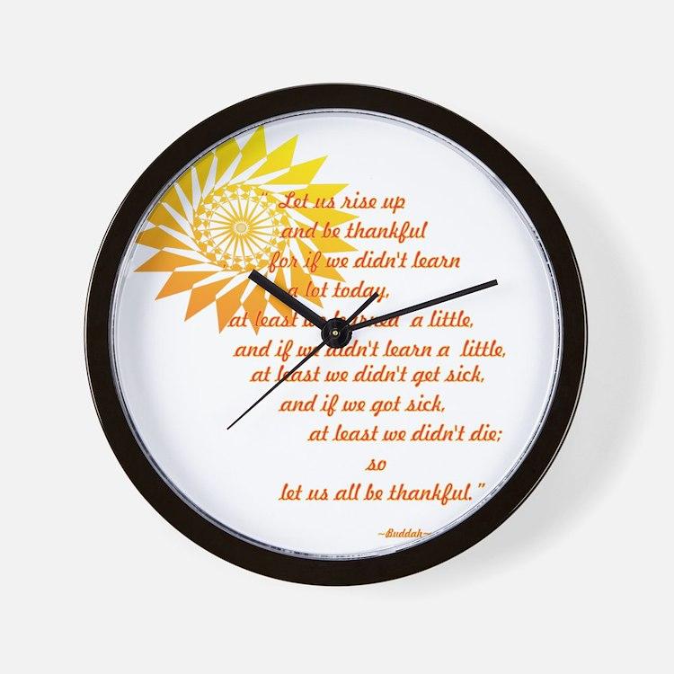 be thankful 12x12 Wall Clock