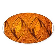 African GOLD Print Oval Decal