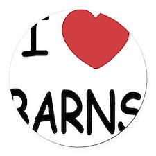 BARNS Round Car Magnet