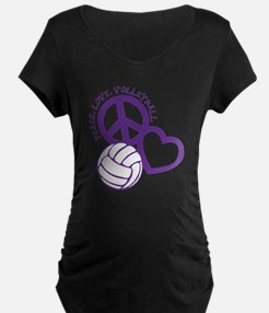 peace love volleyball, purp T-Shirt