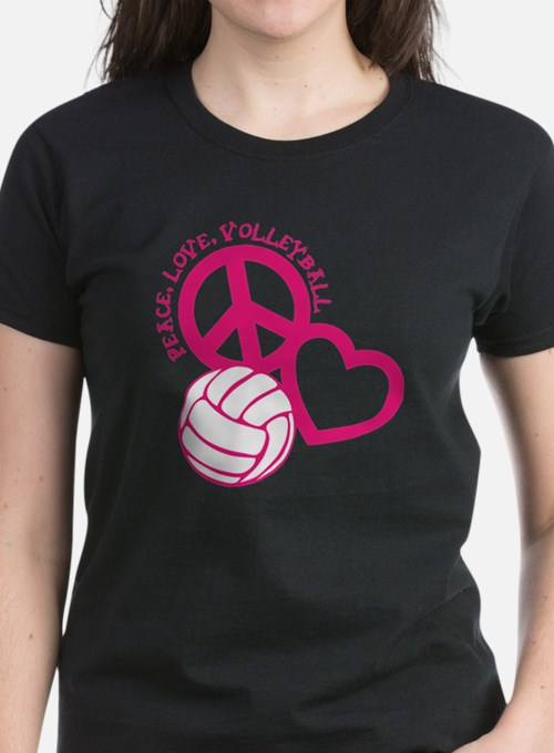 peace love volleyball, melon  Tee
