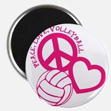 peace love volleyball, melon top, roughage Magnet