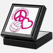 peace love volleyball, melon top, rou Keepsake Box