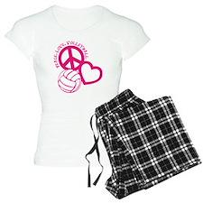 peace love volleyball, melo Pajamas