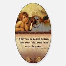nook_dog_heaven2 Sticker (Oval)