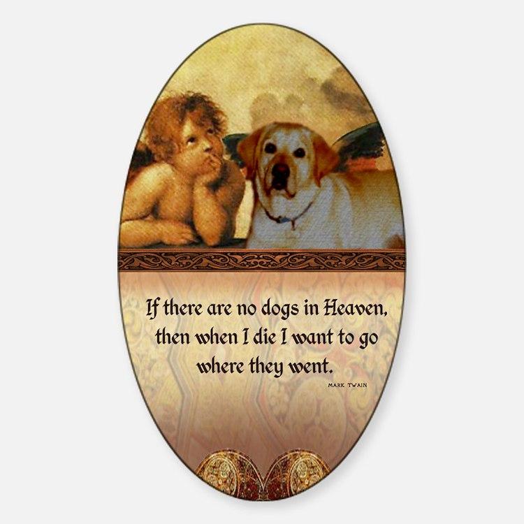 nook_dog_heaven2 Sticker (Oval)