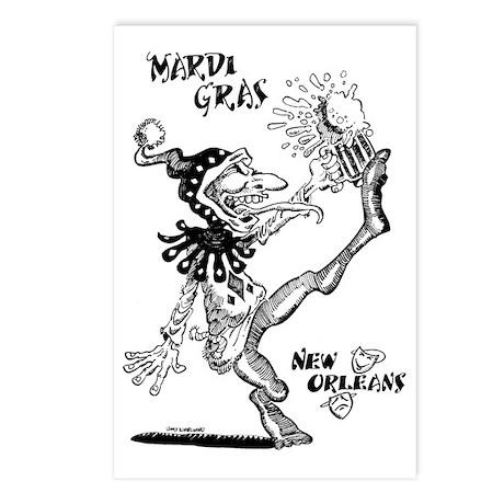 Mardis Gras by VinceBalla Postcards (Package of 8)