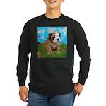 Puppy Dream Meadow Long Sleeve Dark T-Shirt
