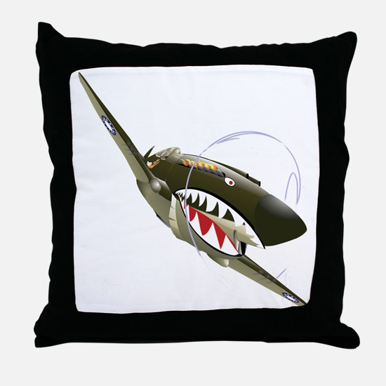 Flying Tigers Throw Pillow