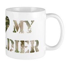 I Heart My Soldier Mug