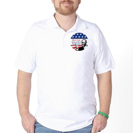 HereIAm-HermanCainBut Golf Shirt
