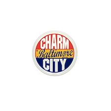 Baltimore Vintage Label B Mini Button