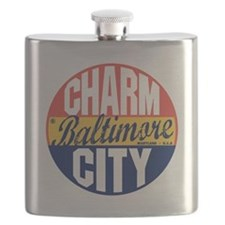 Baltimore Vintage Label B Flask