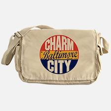 Baltimore Vintage Label B Messenger Bag