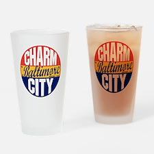 Baltimore Vintage Label B Drinking Glass