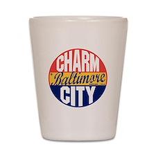 Baltimore Vintage Label B Shot Glass