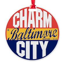 Baltimore Vintage Label B Ornament