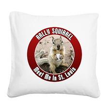 squirrel_st-louis_01 Square Canvas Pillow