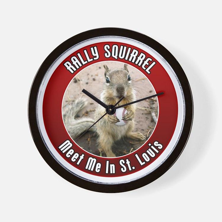 squirrel_st-louis_01 Wall Clock