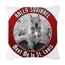 squirrel_st-louis_02 Woven Throw Pillow