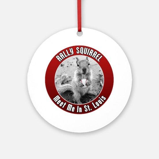 squirrel_st-louis_02 Round Ornament