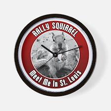 squirrel_st-louis_02 Wall Clock