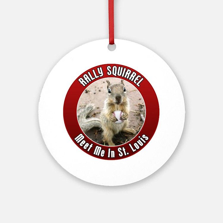 squirrel_st-louis_01 Round Ornament