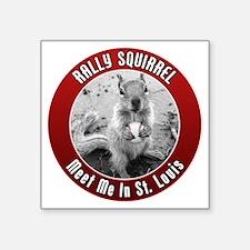 "squirrel_st-louis_02 Square Sticker 3"" x 3"""