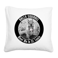 squirrel_st-louis_03_smaller Square Canvas Pillow