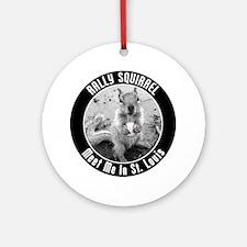 squirrel_st-louis_03_smaller Round Ornament