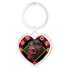 lizardskull Heart Keychain