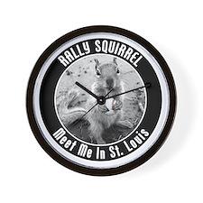 squirrel_st-louis_03 Wall Clock