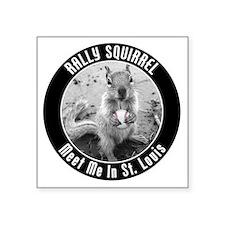 "squirrel_st-louis_03 Square Sticker 3"" x 3"""