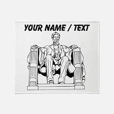 Custom Lincoln Memorial Throw Blanket