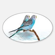 2 blue parakeets Decal