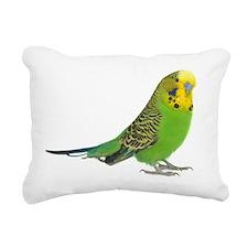 green parakeet Rectangular Canvas Pillow